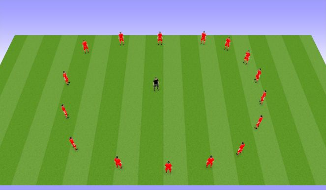 Football/Soccer Session Plan Drill (Colour): Dynamic Stretch