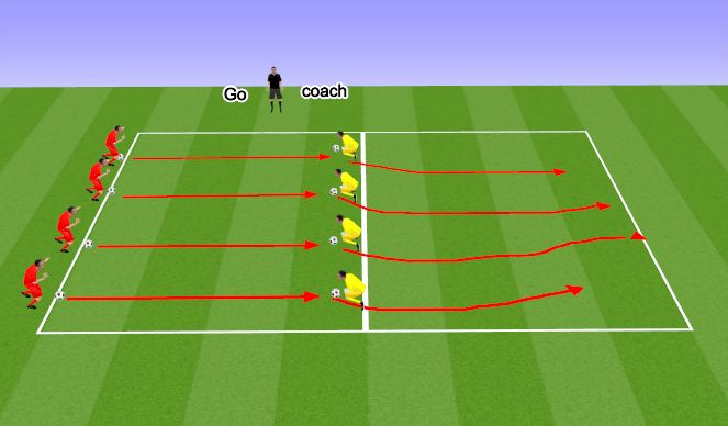 Football/Soccer Session Plan Drill (Colour): The chase is on