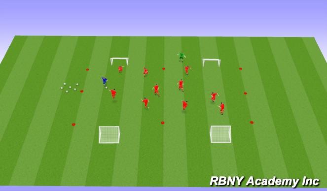 Football/Soccer Session Plan Drill (Colour): Superhero Tag