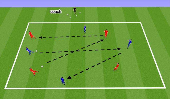 Football/Soccer Session Plan Drill (Colour): Team Passing