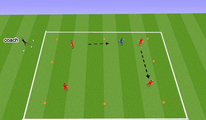 Football/Soccer Session Plan Drill (Colour): Possession (4v1) (20 mins)