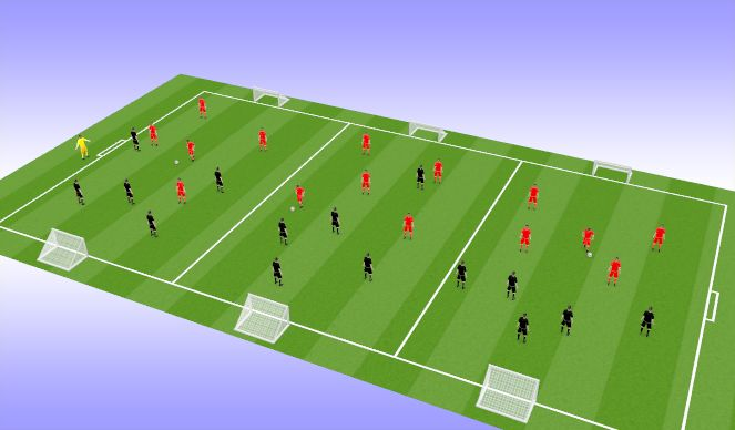 Football/Soccer Session Plan Drill (Colour): WHOLE - Arrival