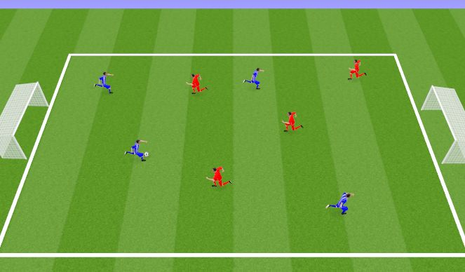 Football/Soccer Session Plan Drill (Colour): WHOLE - SSG - End Game