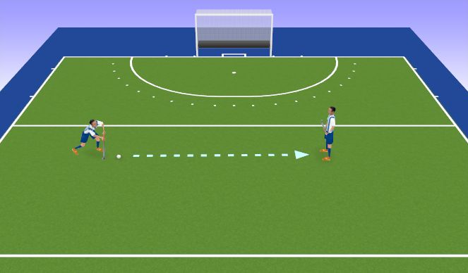 Hockey Session Plan Drill (Colour): Ball Carry