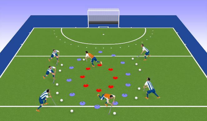 Hockey Session Plan Drill (Colour): Ball Monsters