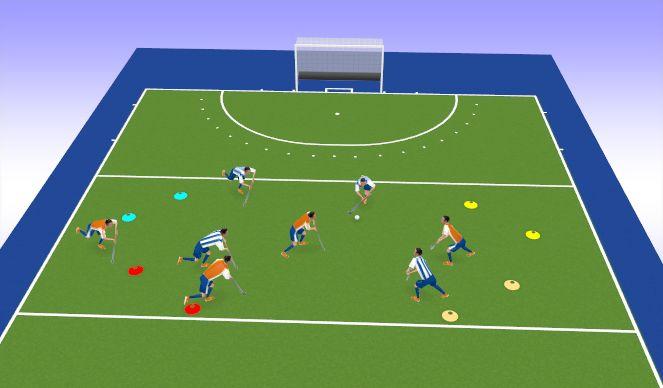 Hockey Session Plan Drill (Colour): Game - Gateways