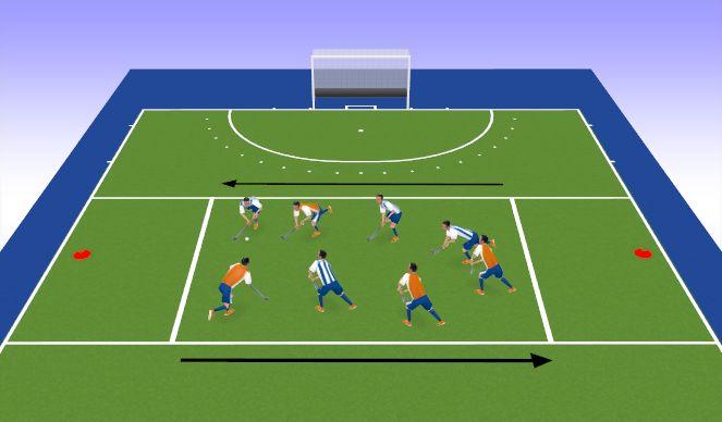 Hockey Session Plan Drill (Colour): 4 v 4 Progression