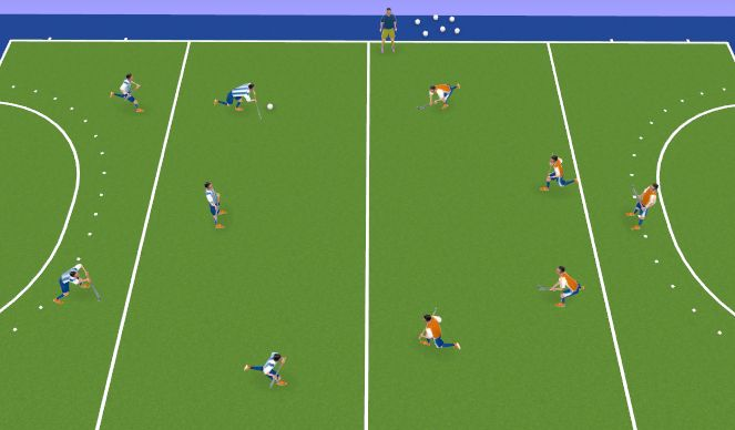 Hockey Session Plan Drill (Colour): Small Sided Game - Self Pass