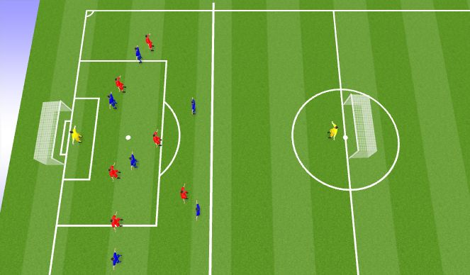 Football/Soccer Session Plan Drill (Colour): House game