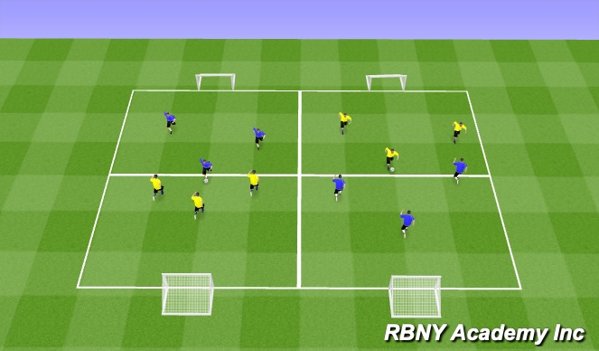 Football/Soccer Session Plan Drill (Colour): 1ST PLAY PHASE