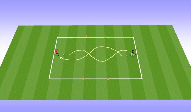 Football/Soccer Session Plan Drill (Colour): 1v1 盤球