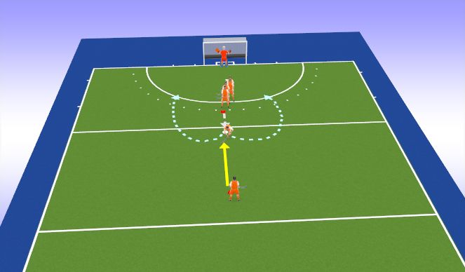Hockey Session Plan Drill (Colour): Inspeel oef
