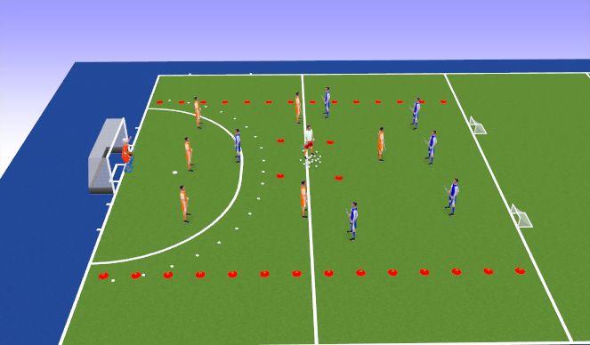 Hockey Session Plan Drill (Colour): Eindpartij 7's