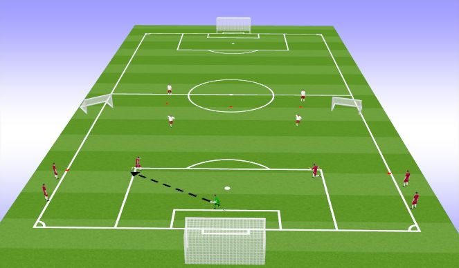 Football/Soccer Session Plan Drill (Colour): 3v2 with neutral