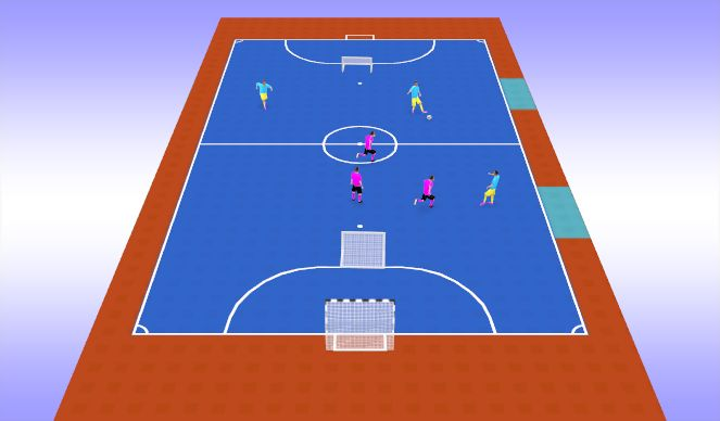 Futsal Session Plan Drill (Colour): Activation - Pick-Up