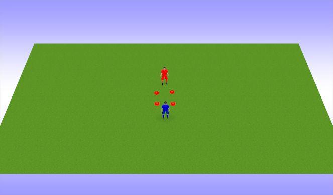 Football/Soccer Session Plan Drill (Colour): palliga liikumine