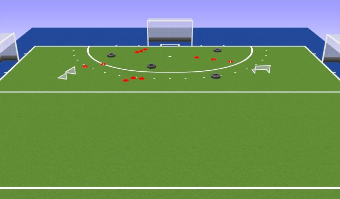Hockey Session Plan Drill (Colour): My Time