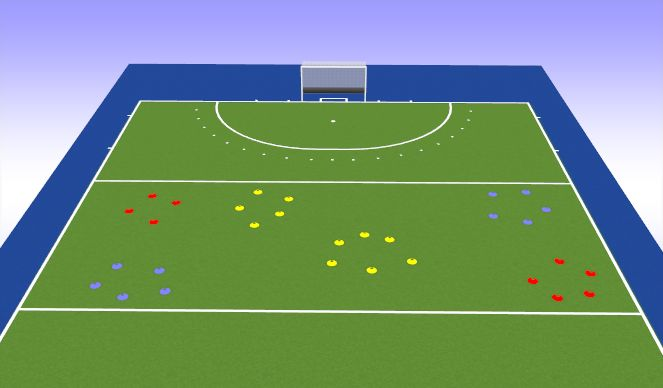 Hockey Session Plan Drill (Colour): Pirates