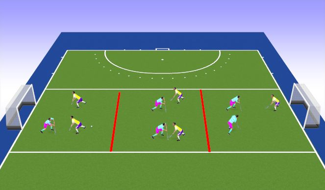 Hockey Session Plan Drill (Colour): Match Play