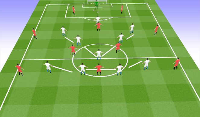 Football/Soccer Session Plan Drill (Colour): Animation 6