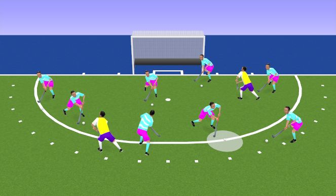Hockey Session Plan Drill (Colour): Warm up- Keep Ball