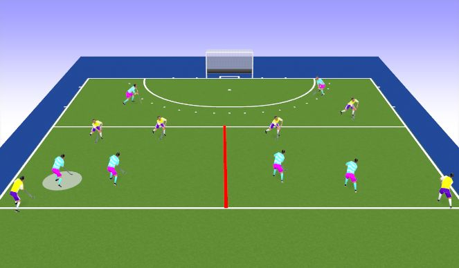 Hockey Session Plan Drill (Colour): Lets Go Green