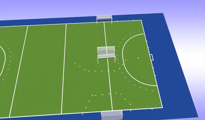 Hockey Session Plan Drill (Colour): Goal Frenzies