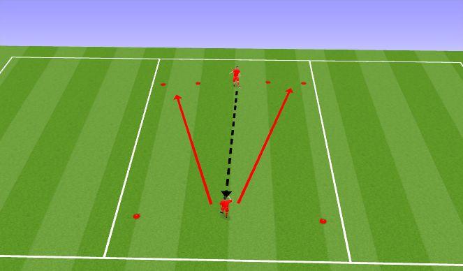 Football/Soccer Session Plan Drill (Colour): Rünnak/kaitse