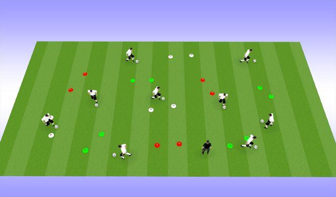 Football/Soccer Session Plan Drill (Colour): Ball Skills