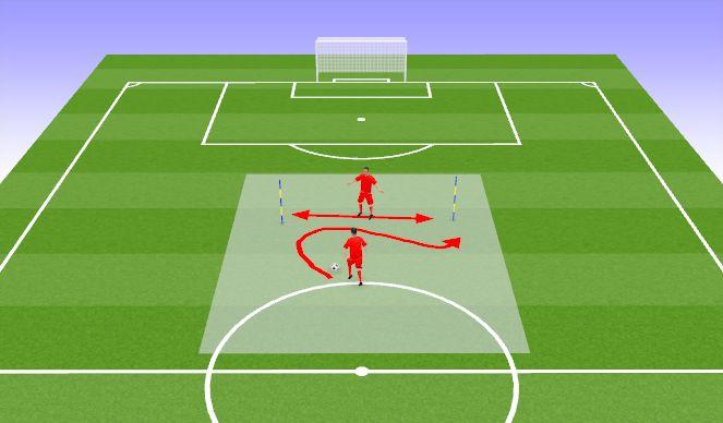 Football/Soccer Session Plan Drill (Colour): Joonemäng