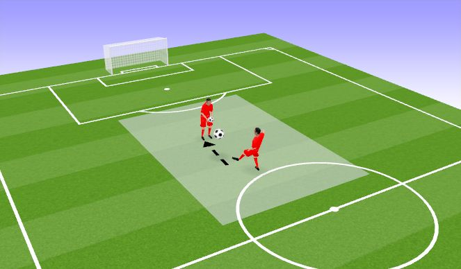 Football/Soccer Session Plan Drill (Colour): Õhust puuted