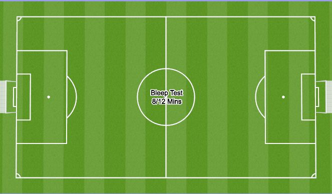 Football/Soccer Session Plan Drill (Colour): Bleep Test