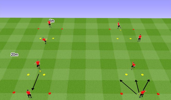 Football/Soccer Session Plan Drill (Colour): Passing + Receiving