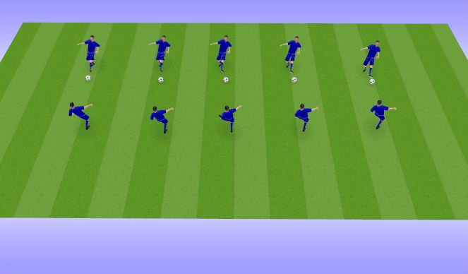 Football/Soccer Session Plan Drill (Colour): Touches