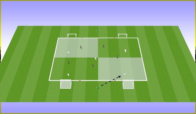 Football/Soccer Session Plan Drill (Colour): 6v5