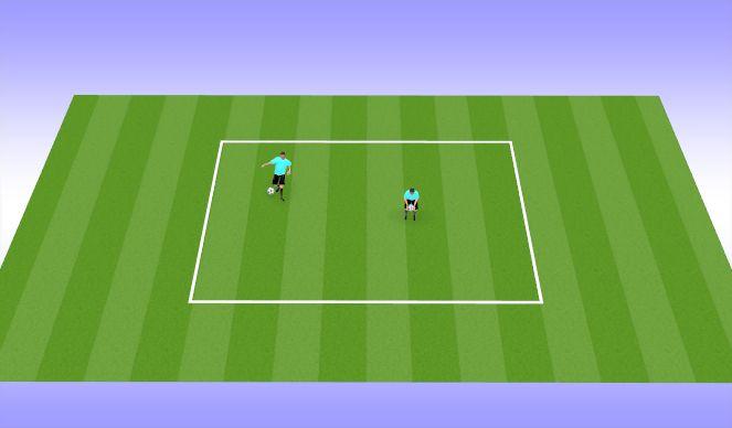 Football/Soccer Session Plan Drill (Colour): juggling - beginning