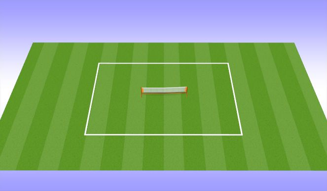 Football/Soccer Session Plan Drill (Colour): Volleyball
