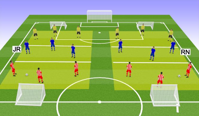 Football/Soccer Session Plan Drill (Colour): River Game