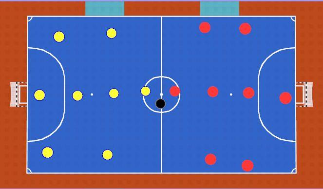Futsal Session Plan Drill (Colour): Conditoned Game