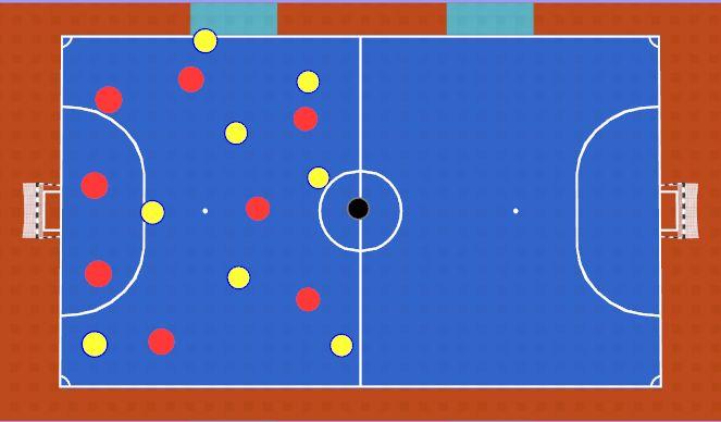 Futsal Session Plan Drill (Colour): Cool Down