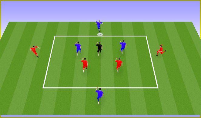 Football/Soccer Session Plan Drill (Colour): Mantenimiento intercambiando posiciones