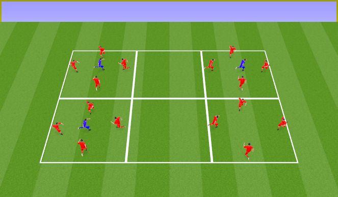 Football/Soccer Session Plan Drill (Colour): Rondo 4v1 con cambio cuando pierdo