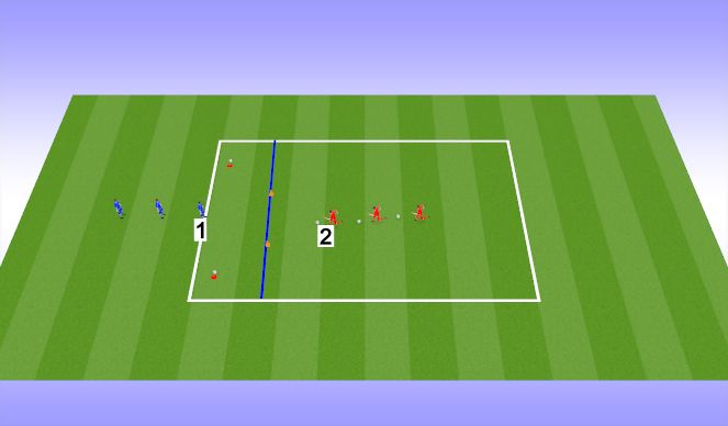 Football/Soccer Session Plan Drill (Colour): Dribbling Option 1
