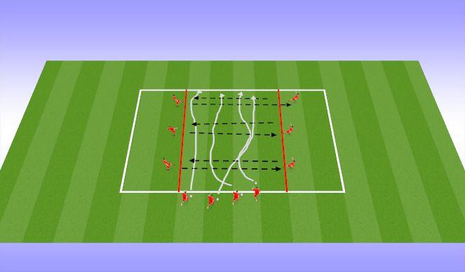 Football/Soccer Session Plan Drill (Colour): Dribbling Option 2