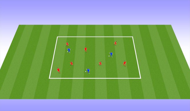 Football/Soccer Session Plan Drill (Colour): Dribbling Option 4