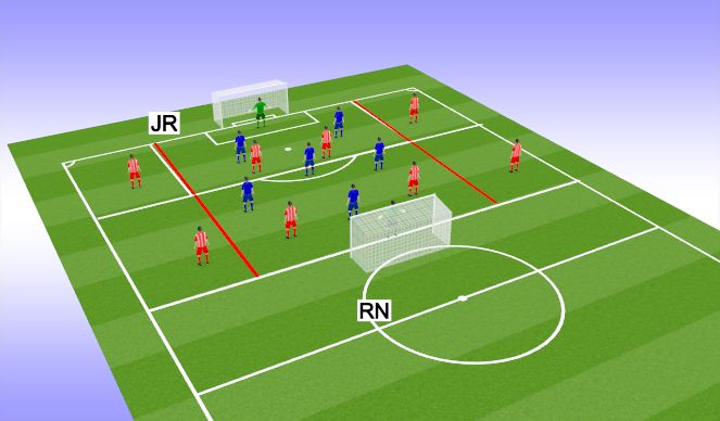 Football/Soccer Session Plan Drill (Colour): Keep possession under pressure