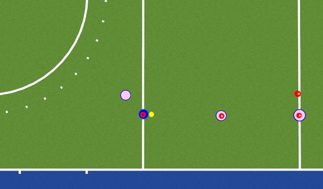 Hockey Session Plan Drill (Colour): Passing through layers