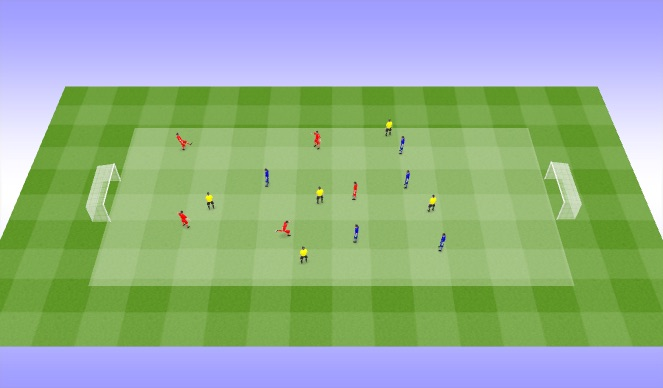 Football/Soccer Session Plan Drill (Colour): Condtioned Game 2