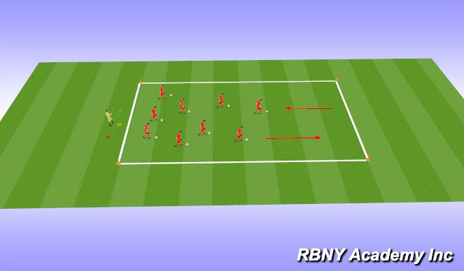 Football/Soccer Session Plan Drill (Colour): Intro Warm-up
