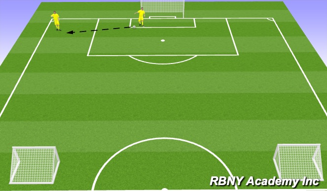 Football/Soccer Session Plan Drill (Colour): Building out